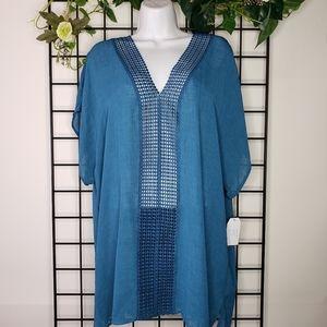 ⭐3/$20 Blue Sheer Swim Coverup Dress